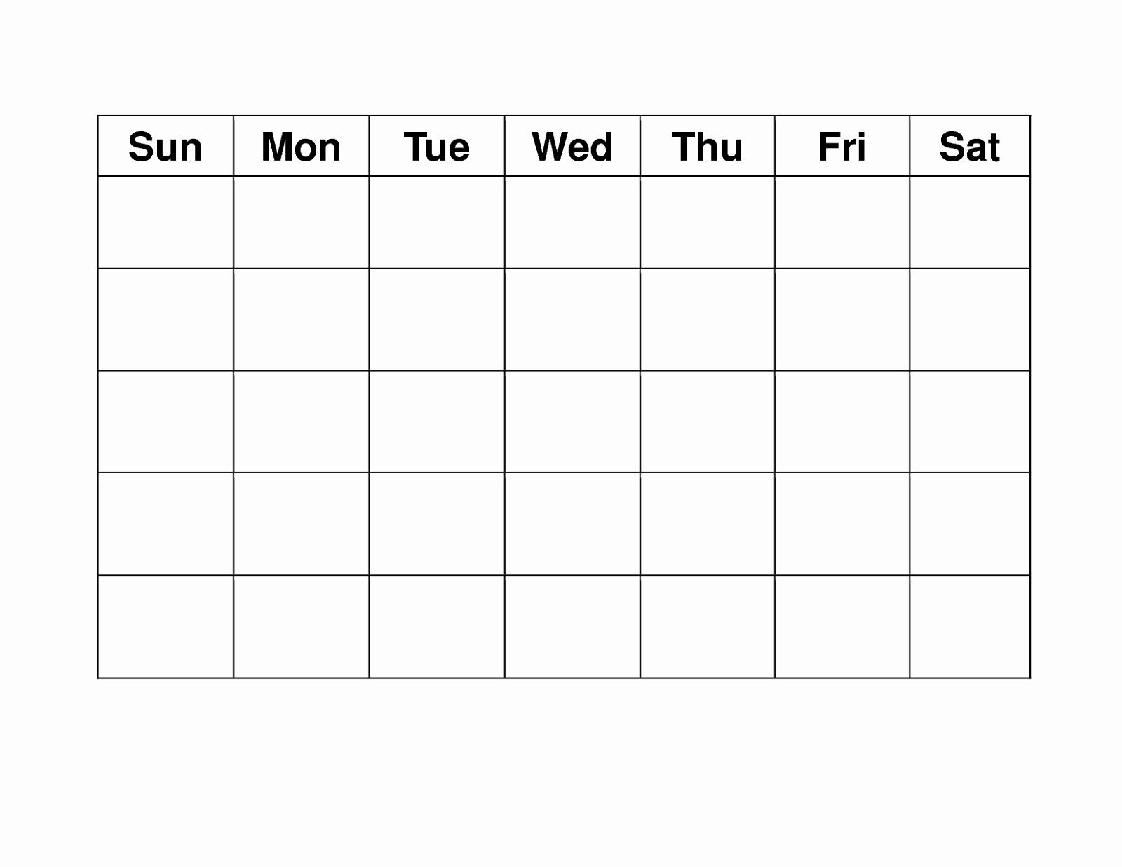 Blank Monthly Calendar Pdf Awesome Blank Weekly Calendars Printable
