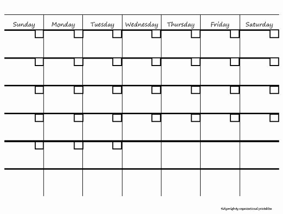 Blank Monthly Calendar Pdf Awesome Create A Blank Calendar Bing Images