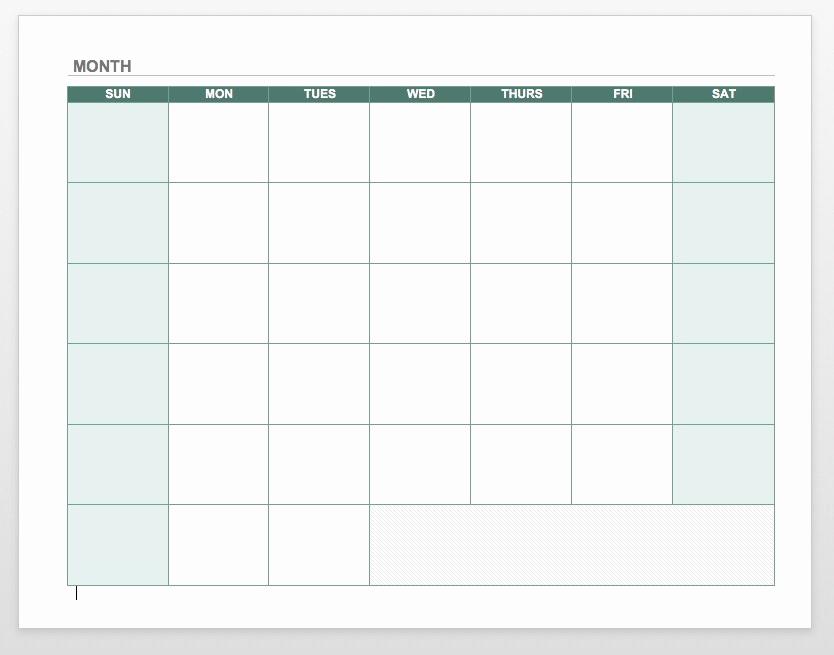 Blank Monthly Calendar Pdf Beautiful Blank Calendar 2018 Word Pdf Printable Templates