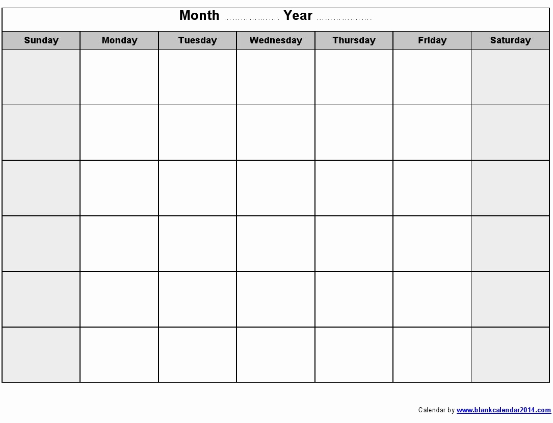Blank Monthly Calendar Pdf Elegant Calendars to Write On and Print Printable Calendar