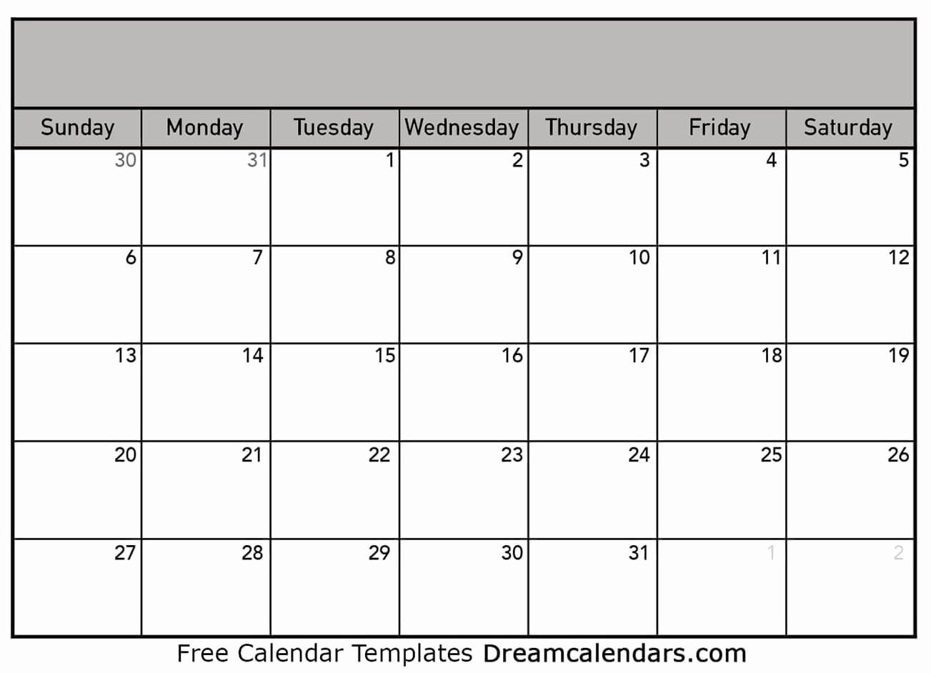 Blank Monthly Calendar Pdf Fresh Printable Blank Calendar Dream Calendars