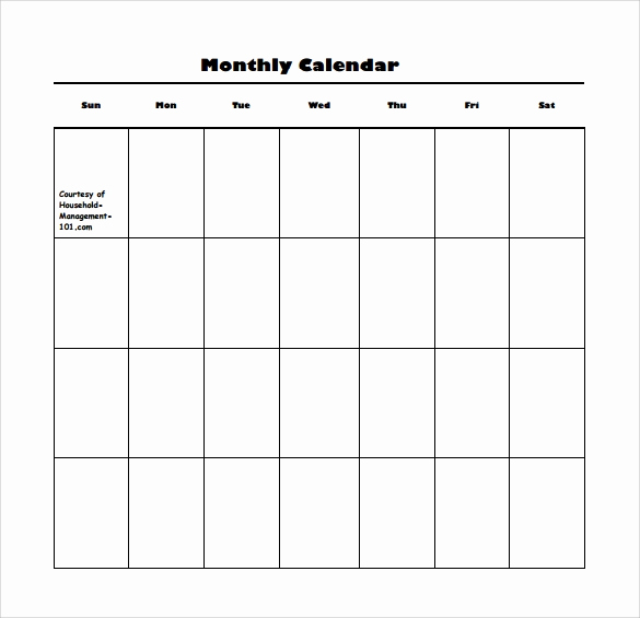 Blank Monthly Calendar Pdf Luxury Blank Calendar Template 15 Download Free Docements In Pdf