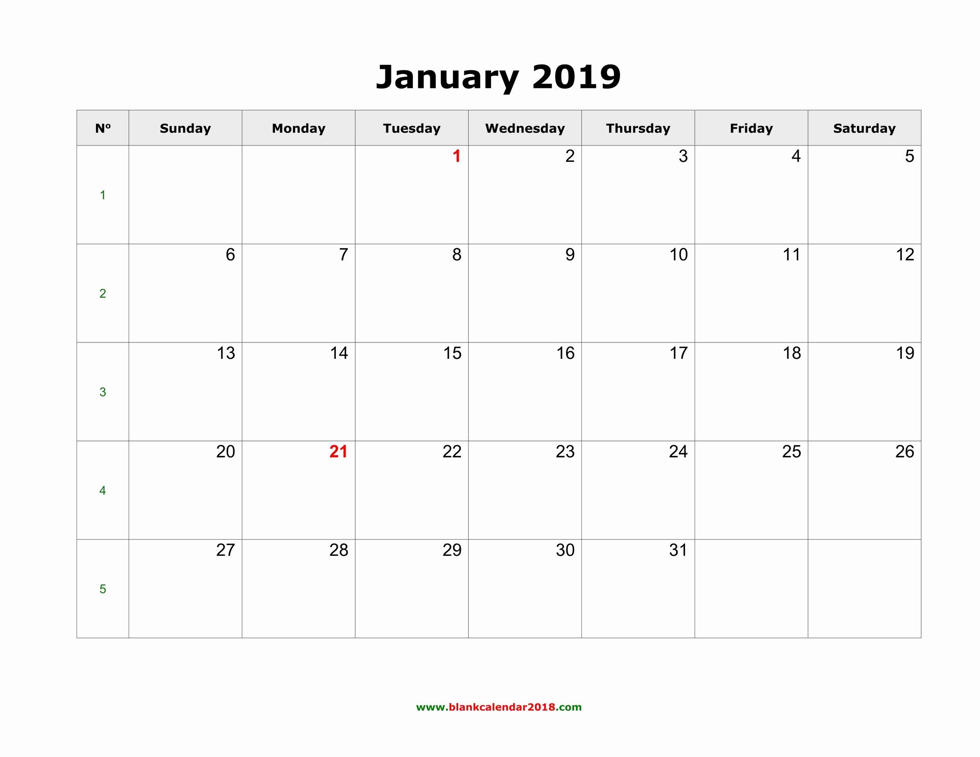 Blank Monthly Calendar Pdf Unique Blank Calendar 2019