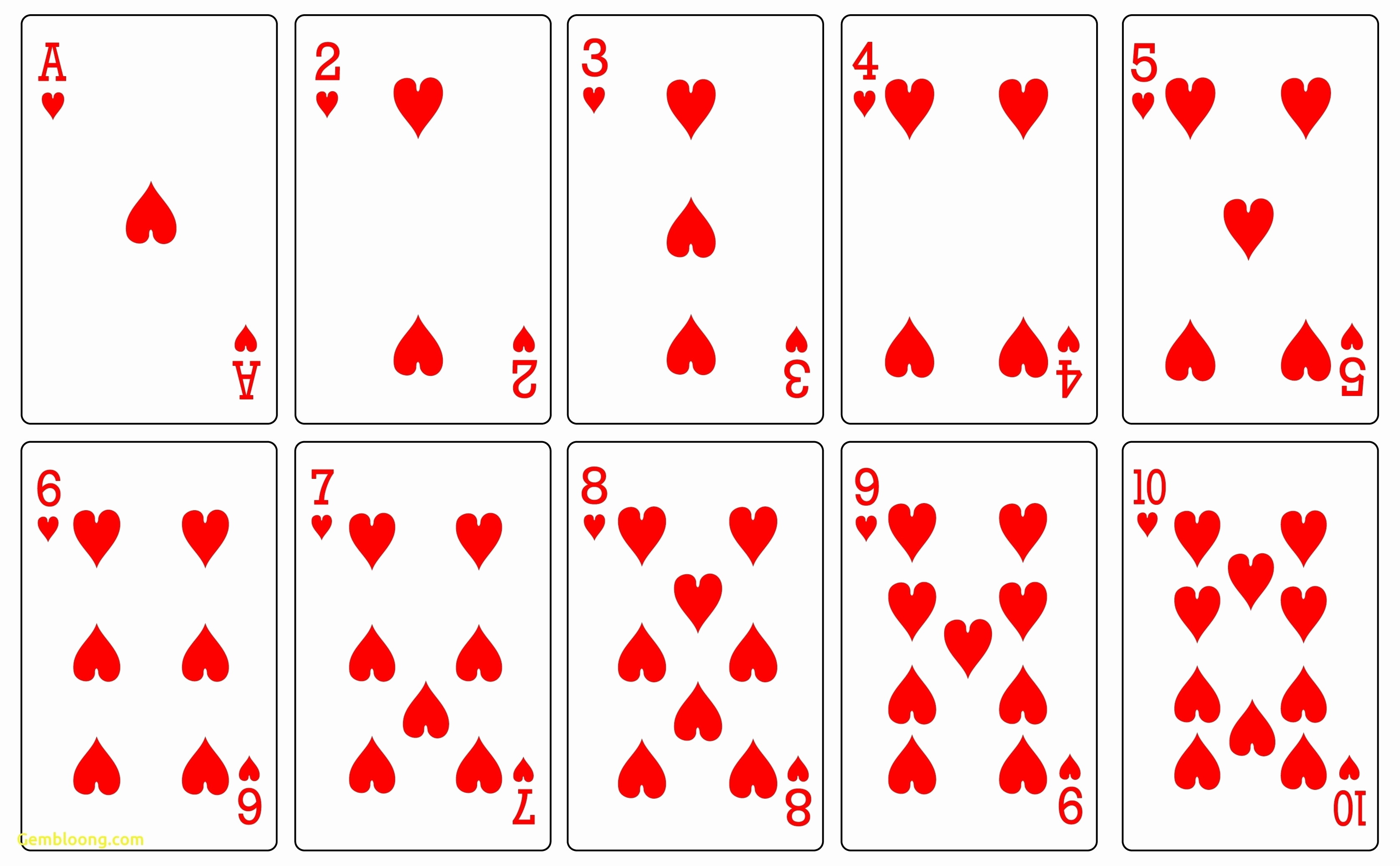 Blank Playing Card Template Awesome 17 Free Printable Playing Cards