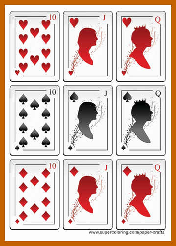 Blank Playing Card Template Awesome 9 10 Playing Card Templates