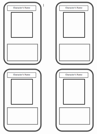 Blank Playing Card Template Awesome Trading Card Template Beepmunk