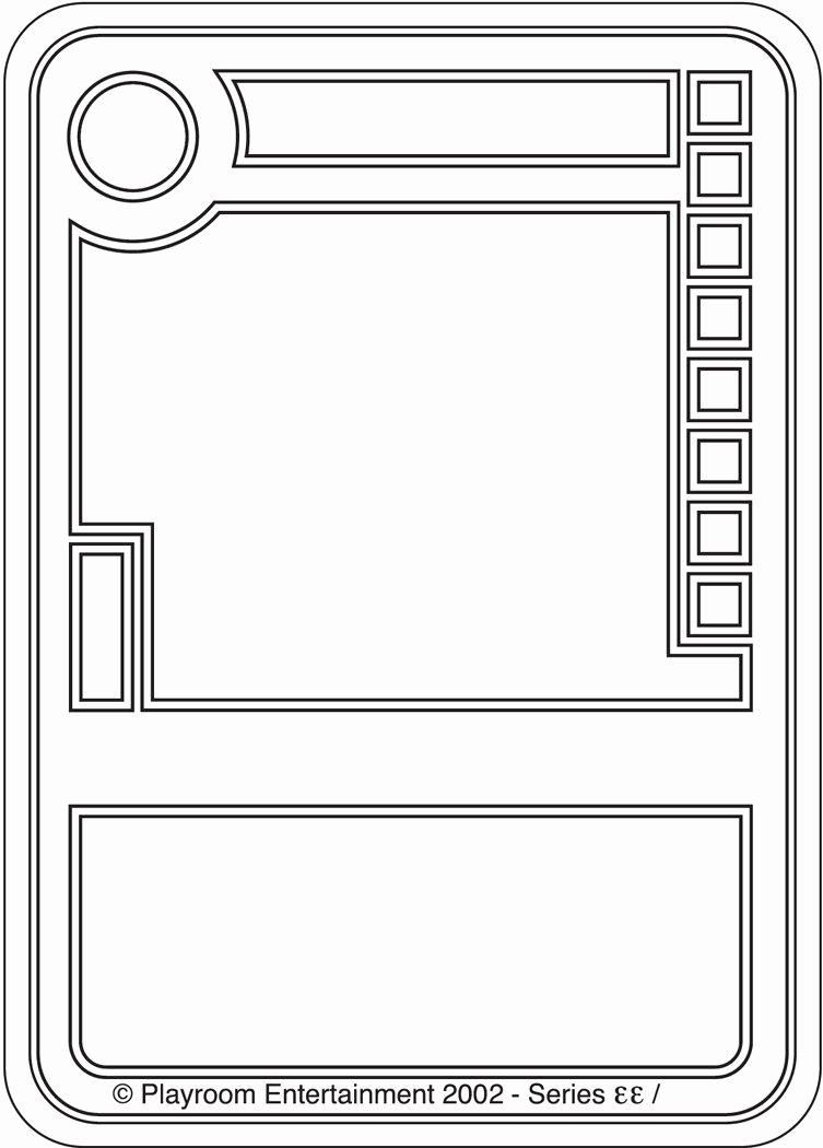 Blank Playing Card Template Beautiful Blank Trading Cards