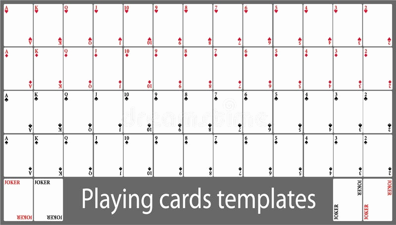 Blank Playing Card Template Elegant Playing Cards Template – Emmamcintyrephotography