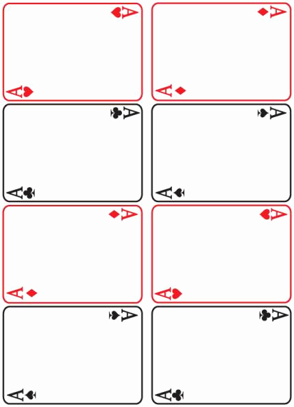Blank Playing Card Template Inspirational Texas Teens Read 2008 Craft Materials