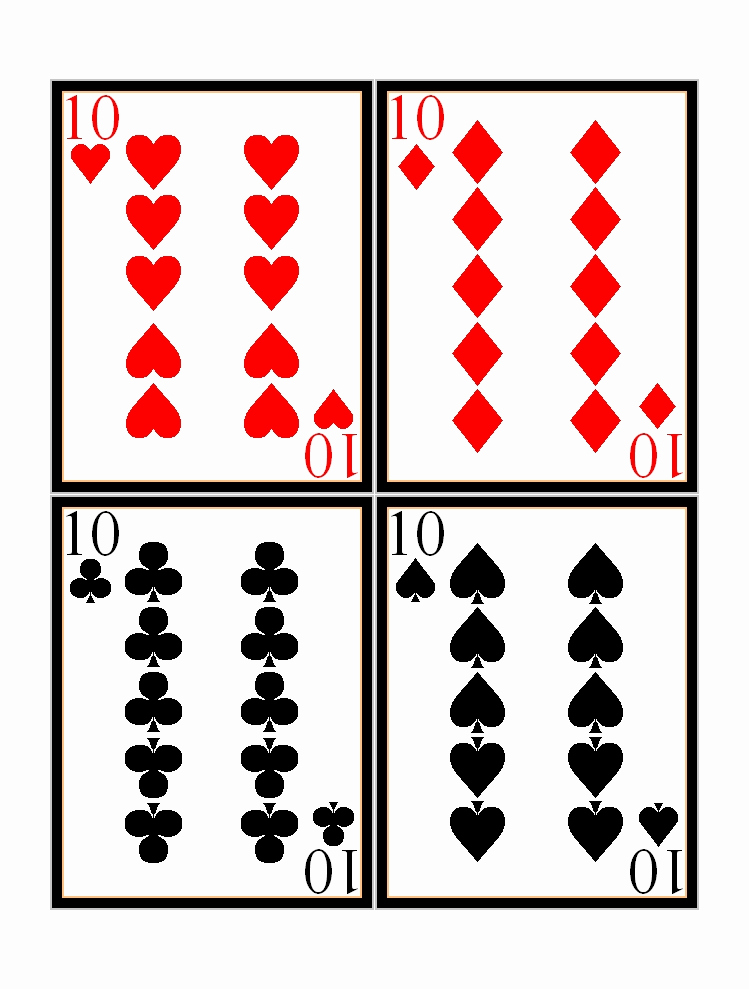 Blank Playing Card Template Lovely 17 Free Printable Playing Cards