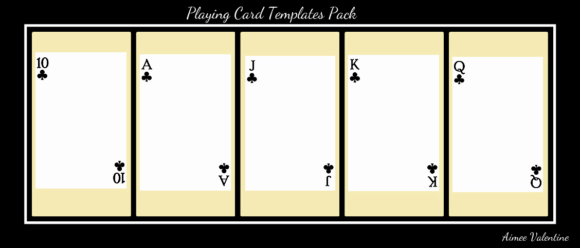 Blank Playing Card Template New Best S Of Playing Card Templates for Word Playing