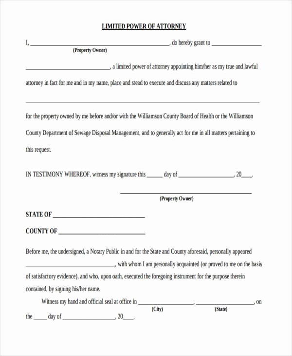 Blank Power Of attorney form Beautiful Power Of attorney forms In Pdf