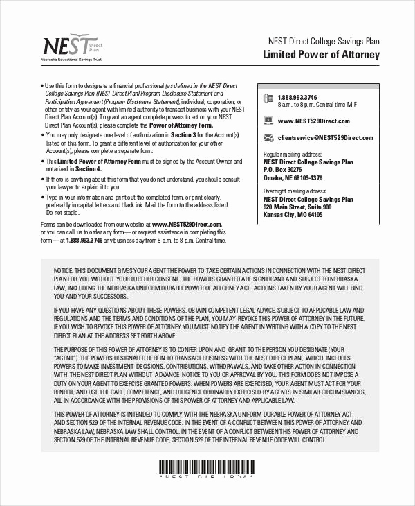 Blank Power Of attorney form Luxury Power Of attorney form