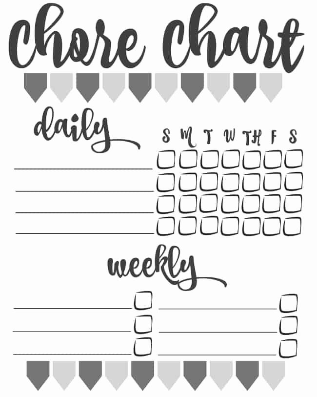 Blank Printable Chore Charts Elegant Diy Printable Chore Chart Inspiration for Moms