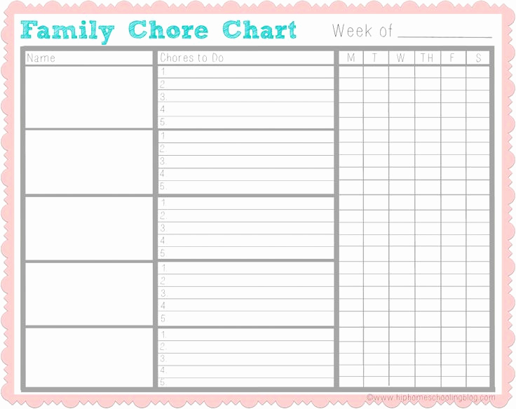 Blank Printable Chore Charts New Best 25 Free Printable Chore Charts Ideas On Pinterest