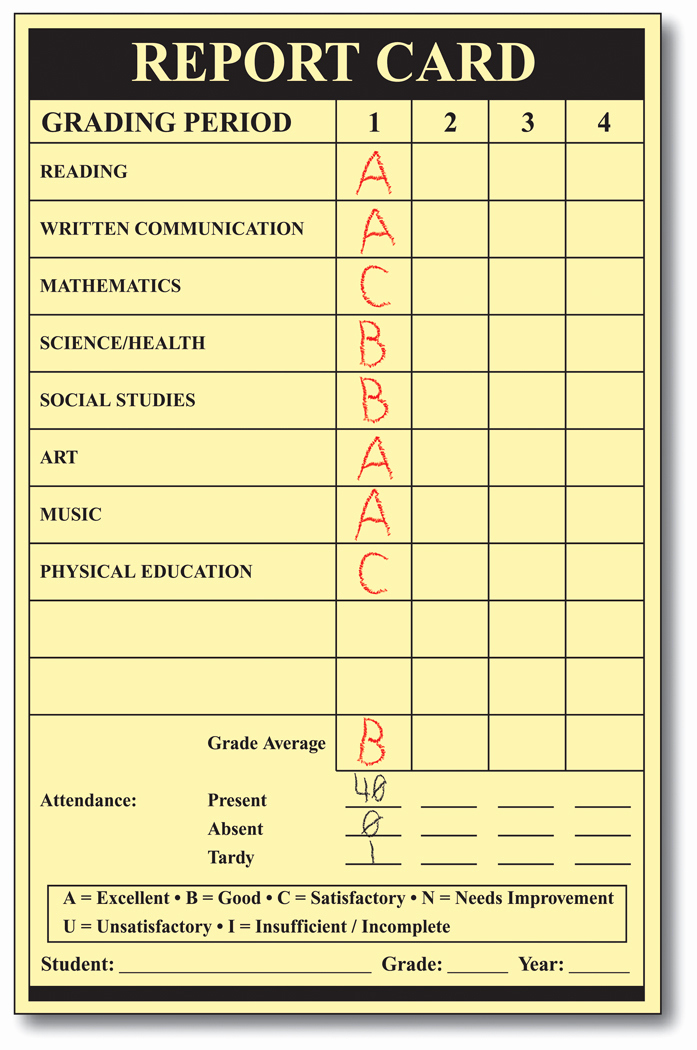 Blank Report Card Template Beautiful Writing Report Cards for Kindergarten Stonewall Services