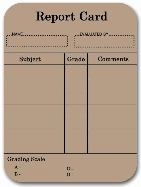 Blank Report Card Template Lovely 17 Best Images About Report Cards On Pinterest
