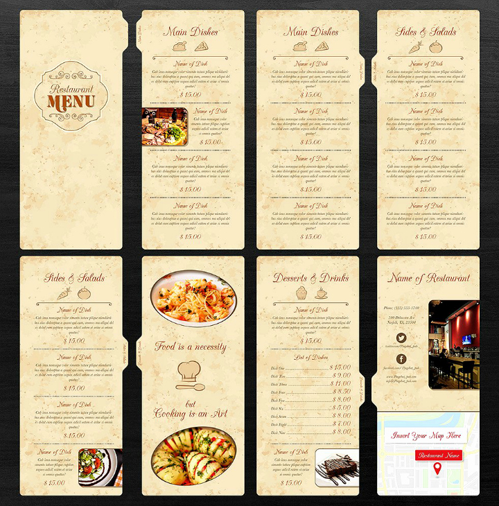 Blank Restaurant Menu Template Best Of 30 Blank Menu Templates Ai Psd Docs Pages