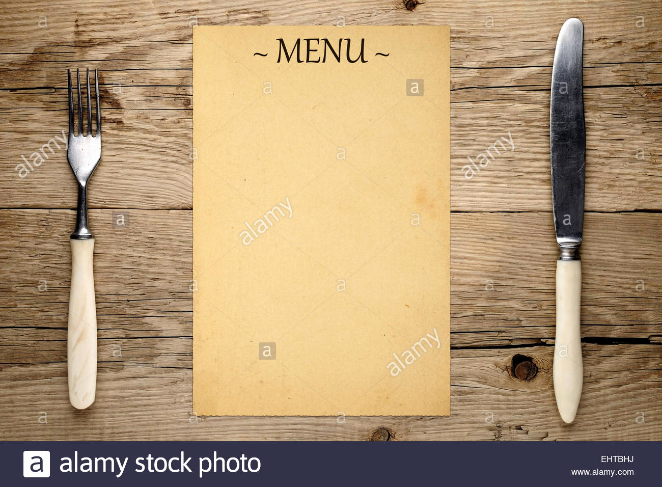 Blank Restaurant Menu Template Best Of Blank Menu fork and Knife On Old Wooden Background Stock