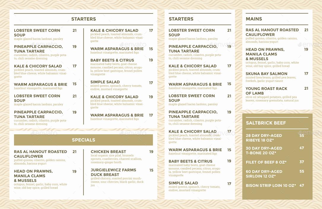 Blank Restaurant Menu Template Best Of Restaurant Menu Template by Bigweek