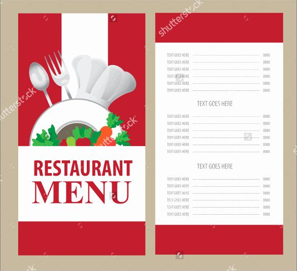 Blank Restaurant Menu Template New Menu Card Templates 58 Free Word Psd Pdf Eps