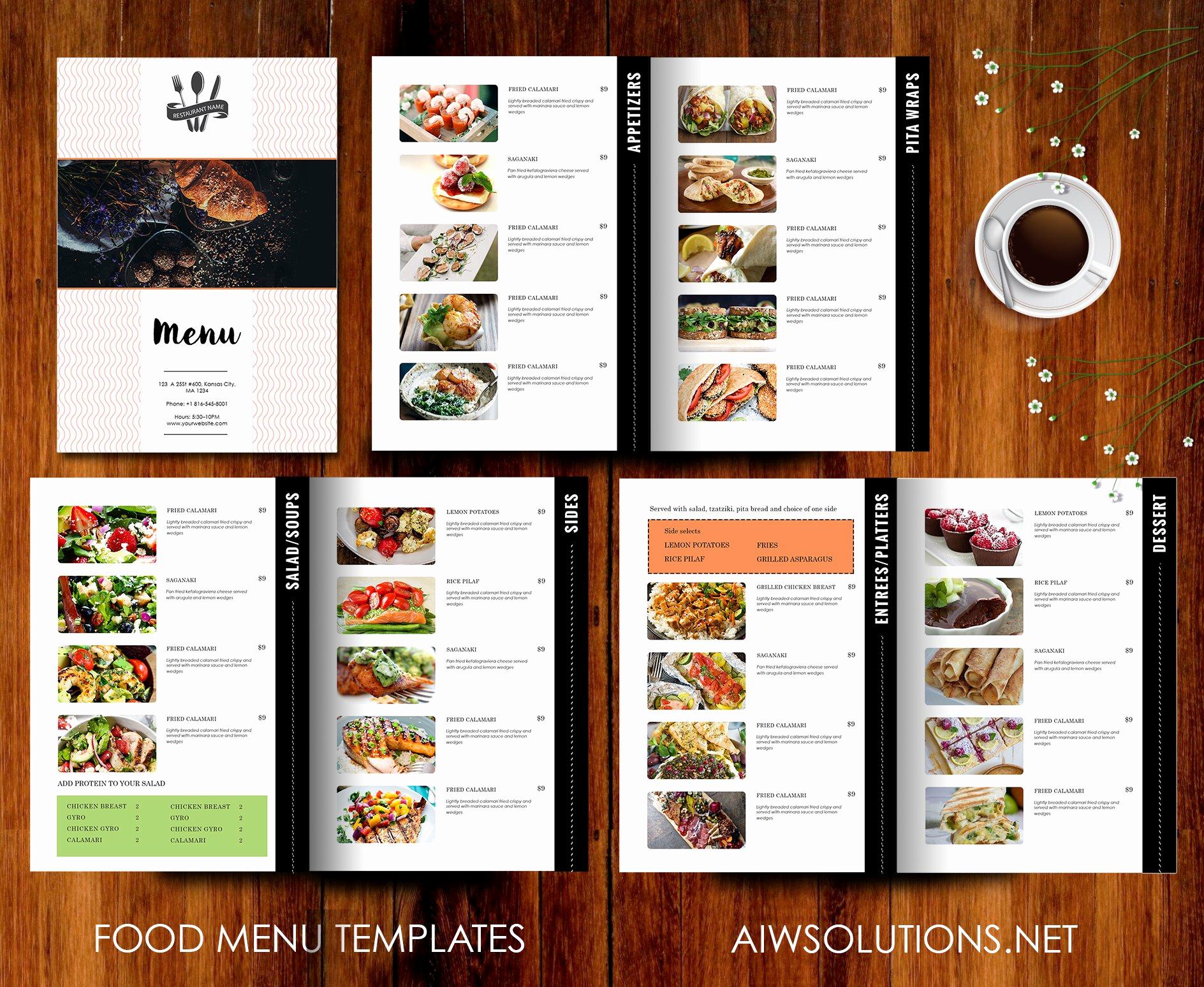 Blank Restaurant Menu Template Unique Restaurant Menu Template Brochure Templates Creative