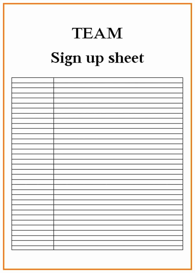 Blank Sign Up Sheet Beautiful 9 Blank Sign Up Sheets attendance Sheet Download Central