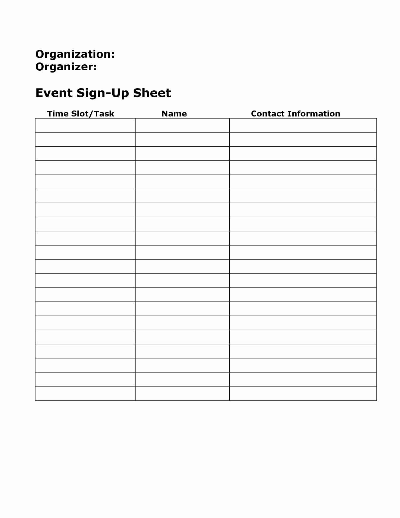 Blank Sign Up Sheet Fresh Blank Sign Up Sheet Example Mughals