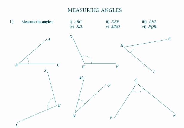 Blank Unit Circle Pdf Unique Finding Measuring Missing Angles Worksheet