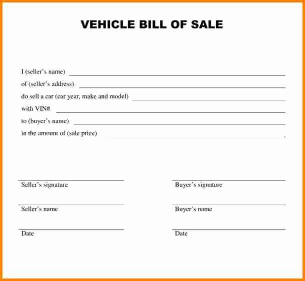 Blank Vehicle Bill Of Sale Luxury 5 Bill Of Sale Alabama Car