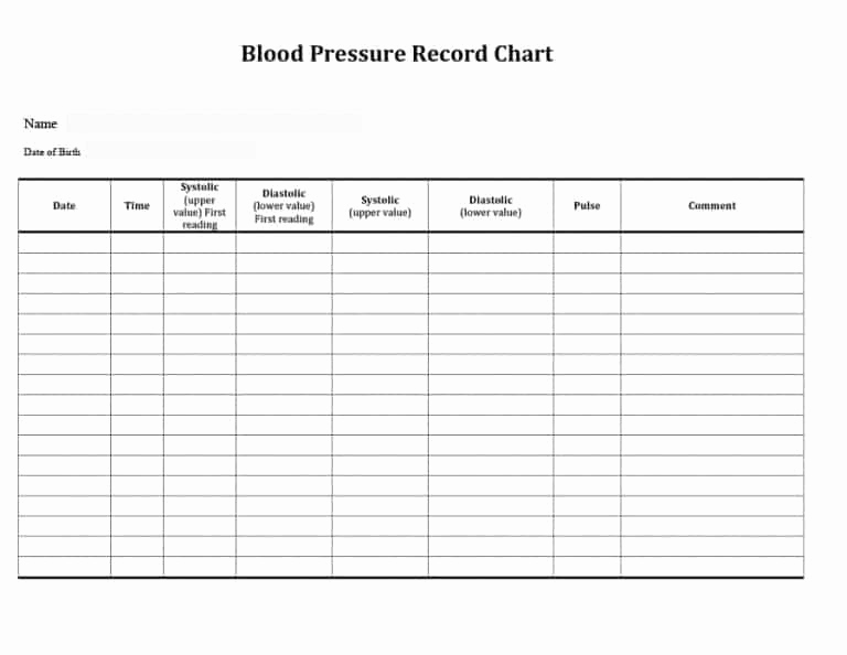 Blood Pressure Chart Pdf Awesome 56 Daily Blood Pressure Log Templates [excel Word Pdf]