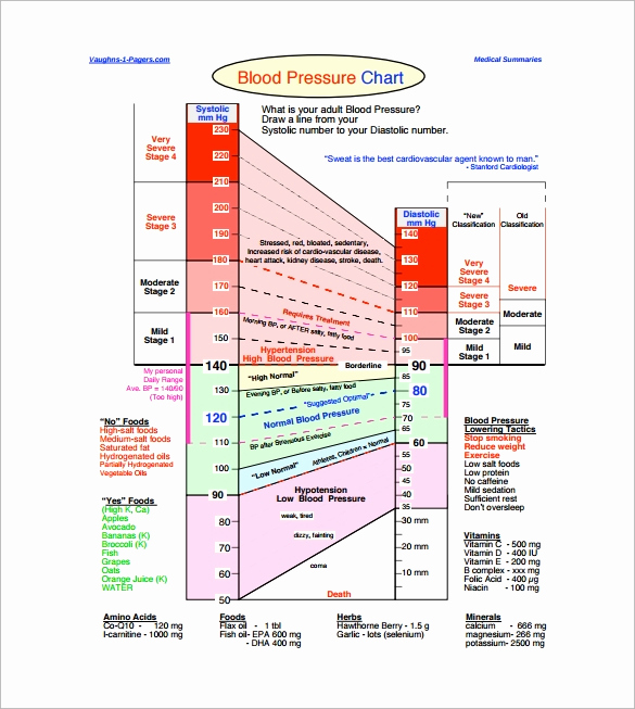 Blood Pressure Chart Pdf Fresh 11 Heart Rate Chart Templates