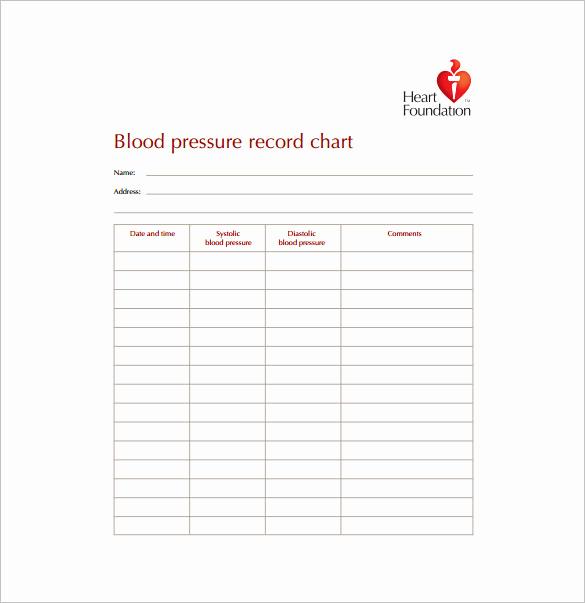 Blood Pressure Charts Pdf Elegant Blood Pressure Chart Template 6 Free Excel Pdf