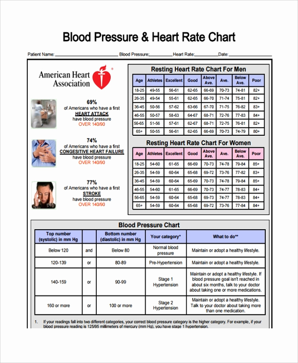 Blood Pressure Charts Pdf Lovely Sample Blood Pressure Chart Template 9 Free Documents