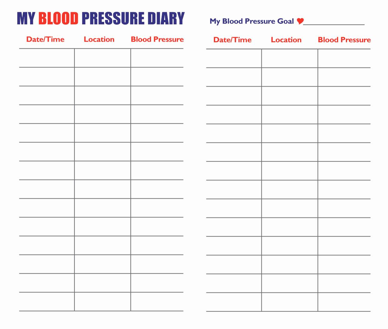 Blood Pressure Log for Patients Elegant 7 Best Of Blood Pressure Log Pdf Printable