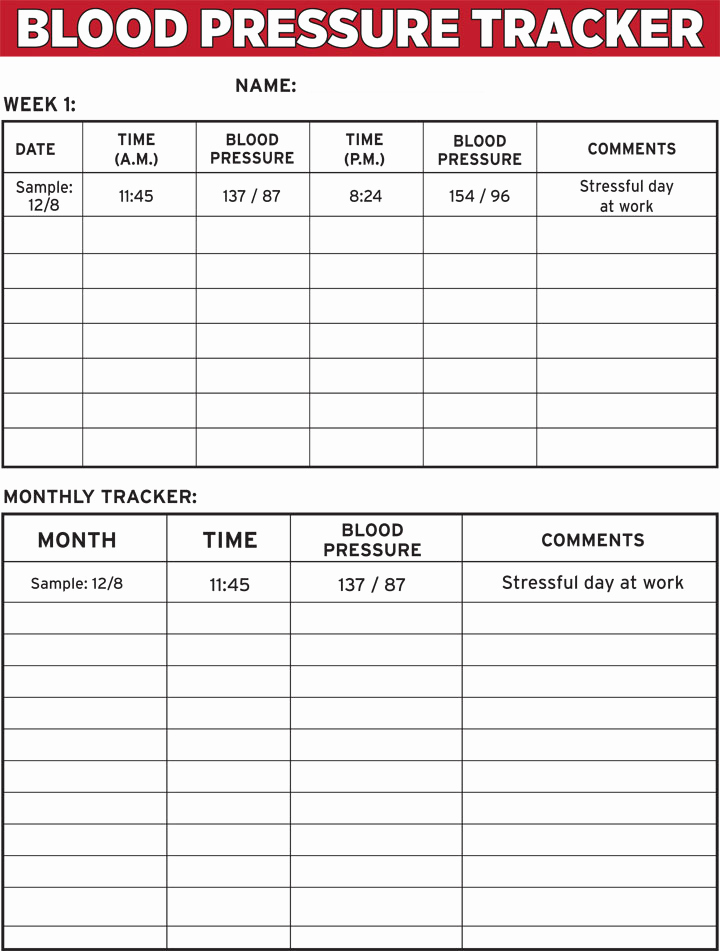 Blood Pressure Tracking Chart Inspirational Blood Pressure Tracker E Sheet