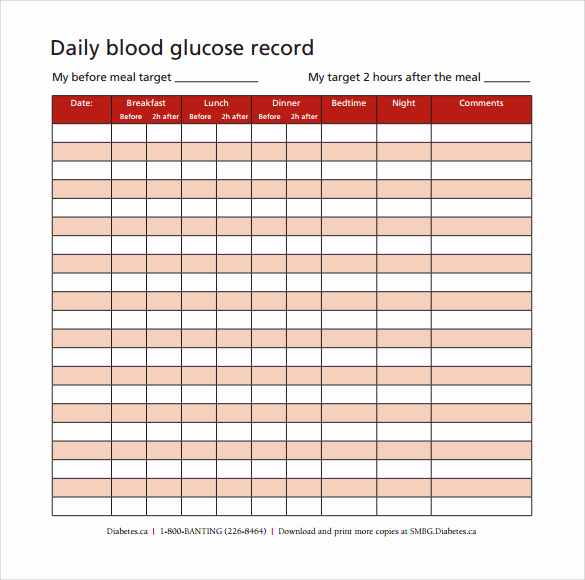 Blood Sugar Chart Pdf Lovely Sample Blood Glucose Chart 7 Documents In Pdf