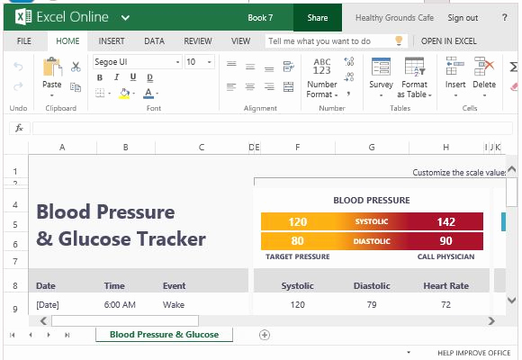 Blood Sugar Log Excel Beautiful Blood Pressure and Glucose Tracker for Excel