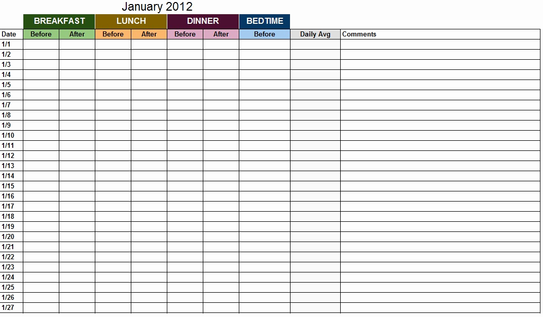 Blood Sugar Log Excel Best Of Blood Sugar Log Template Sample