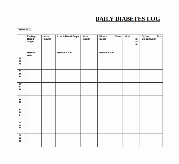 Blood Sugar Log Excel Best Of Sample Blood Sugar Log Template 8 Free Documents In Pdf
