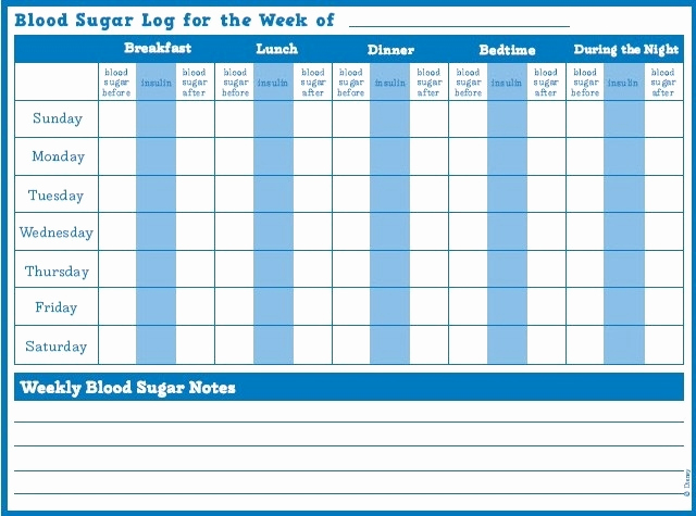 printable blood sugar log