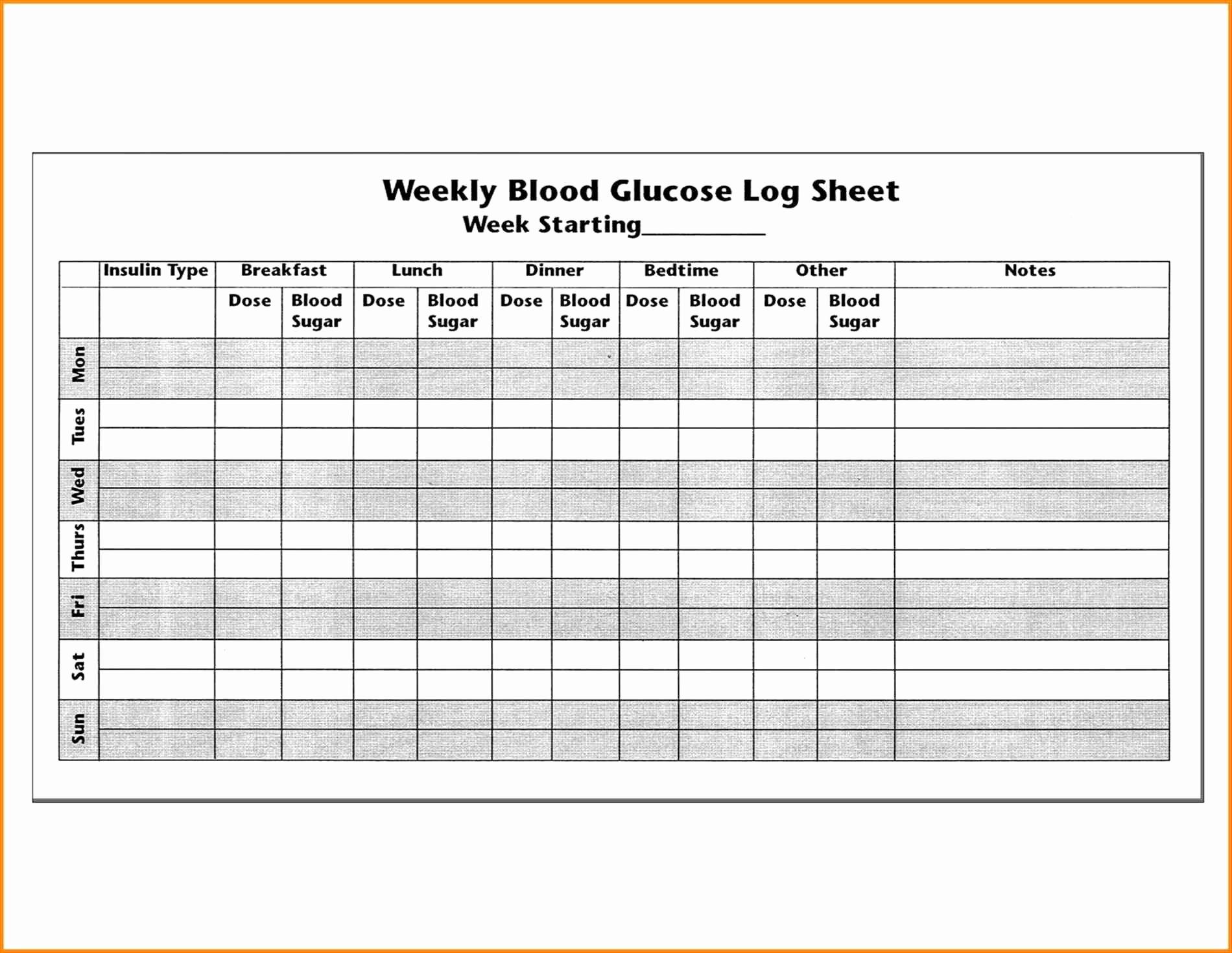 Blood Sugar Log Sheet Pdf Inspirational Blood Sugar Logs Biodata format Glucose Pdf Log Book
