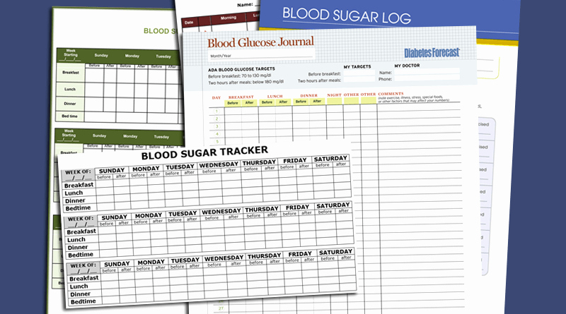 blood sugar log template