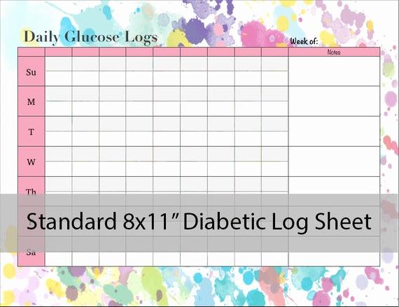 Blood Sugar Log Sheet Pdf Unique Diabetic Glucose Log Sheet Printable Pdf