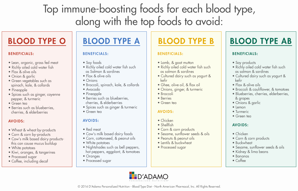 Blood Types Food Chart Awesome November 2016 D Adamo Newsletter