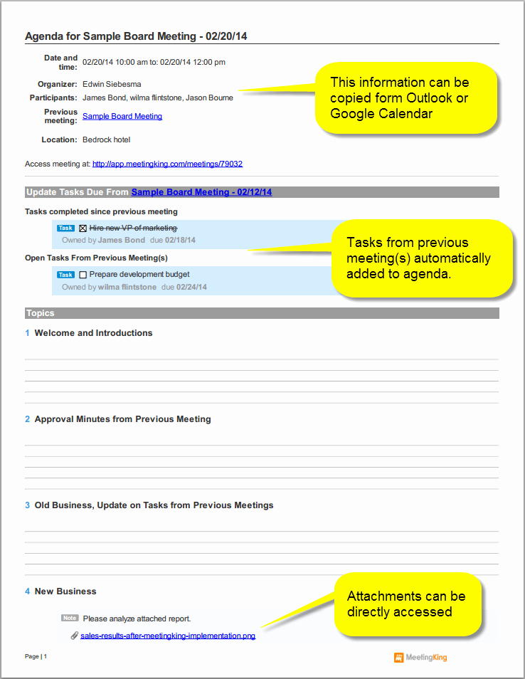 Board Meeting Agenda Template Awesome Sample Board Meeting Agenda Template