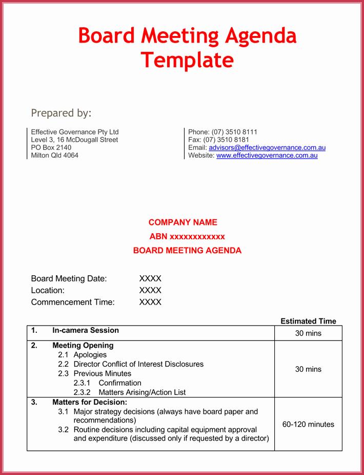 Board Meeting Agenda Template Elegant Effective Meeting Agenda Templates 9 Best Samples In