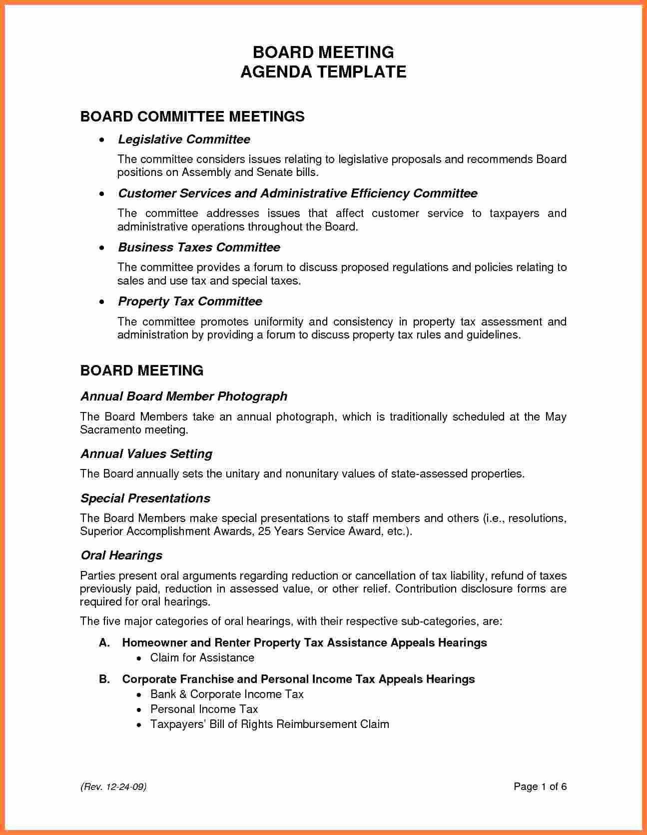 Board Meeting Agenda Template Inspirational 5 Board Meeting Agenda
