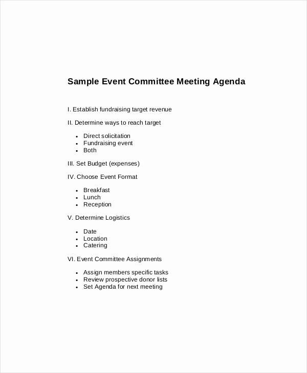 Board Meeting Agenda Template Lovely 15 Mittee Meeting Agenda Templates – Free Sample