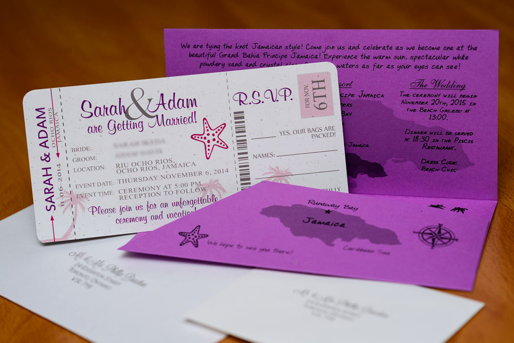 Boarding Pass Wedding Invitations Best Of Purple Boarding Pass Wedding Invitations to Rui Ocho Rios